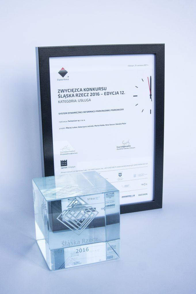 """The """"Silesian Icon"""" 2016 award for the best designed service itself."""